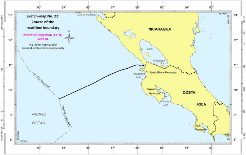 Maritime Boundary | Sketch-map No. 22 | Nicaragua / Costa Rica