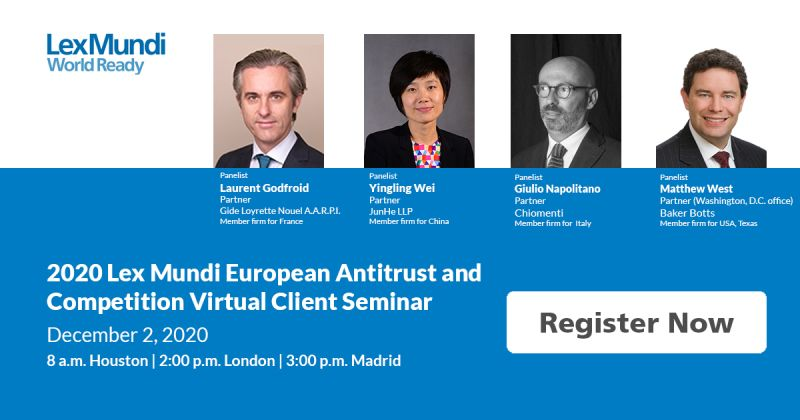 2020 Lex Mundi European Antitrust & Competition Virtual Client Seminar