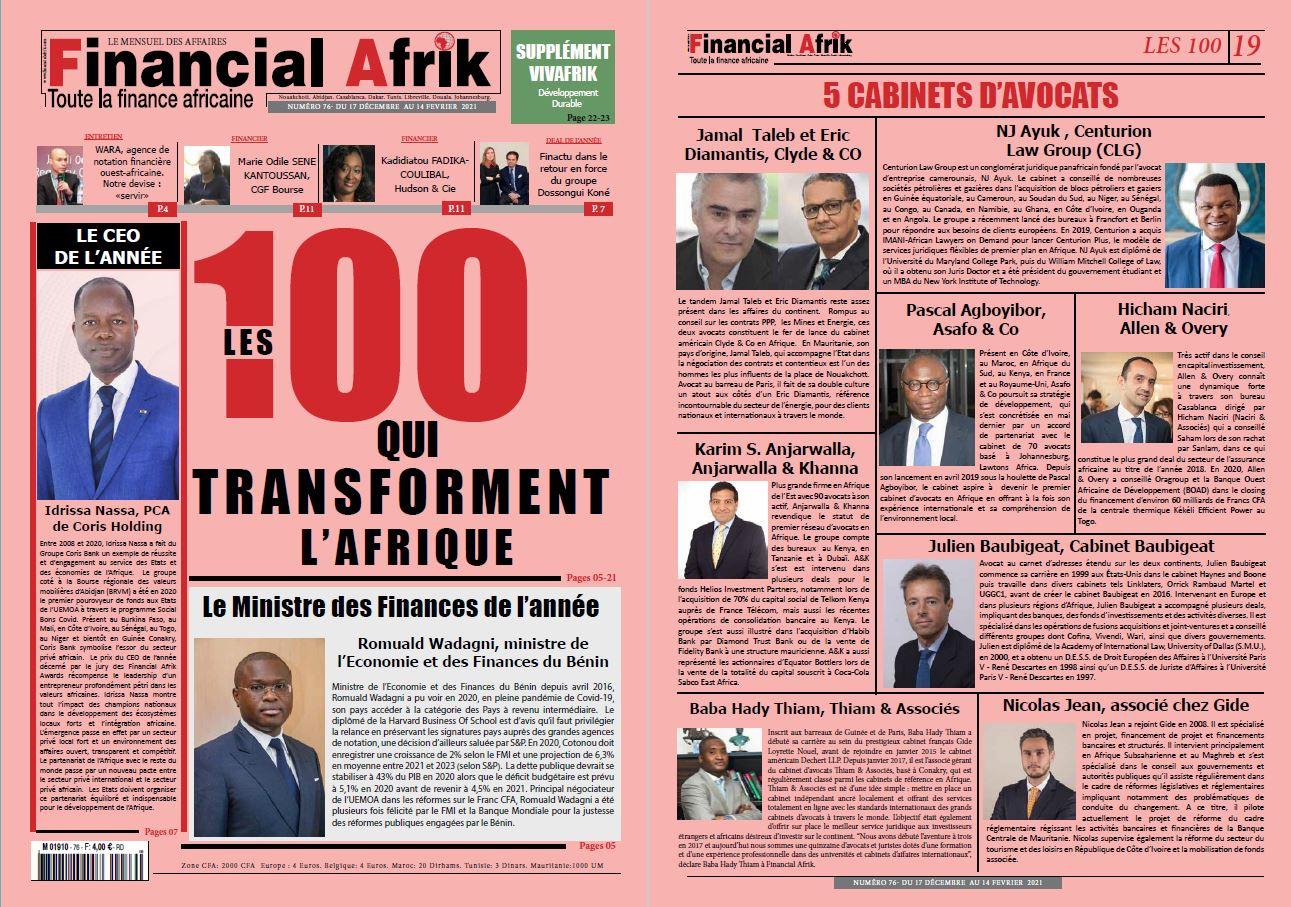 Financial Afrik | Top 5 des cabinets d'avocats qui transforment l'Afrique | Décembre 2020