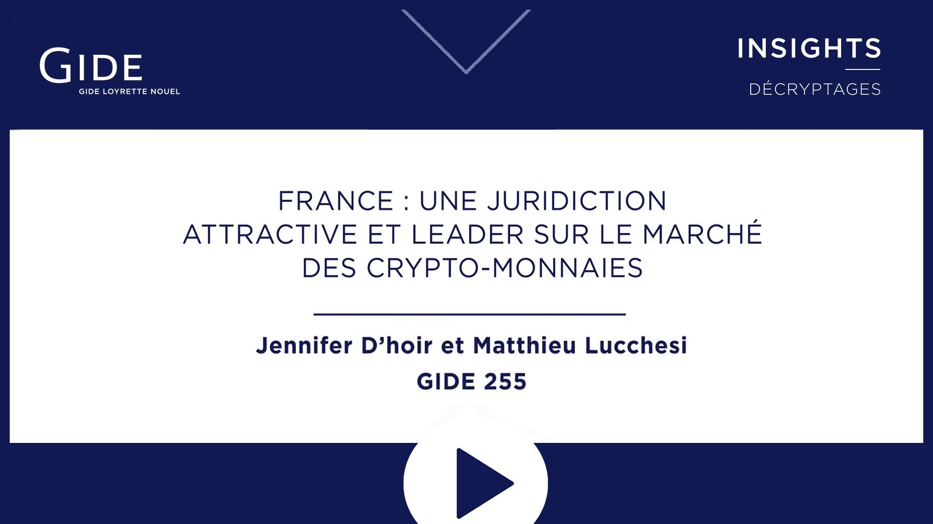 Gide Insights | Loi PACTE | Crypto-actifs & Blockchain | Janvier 2019
