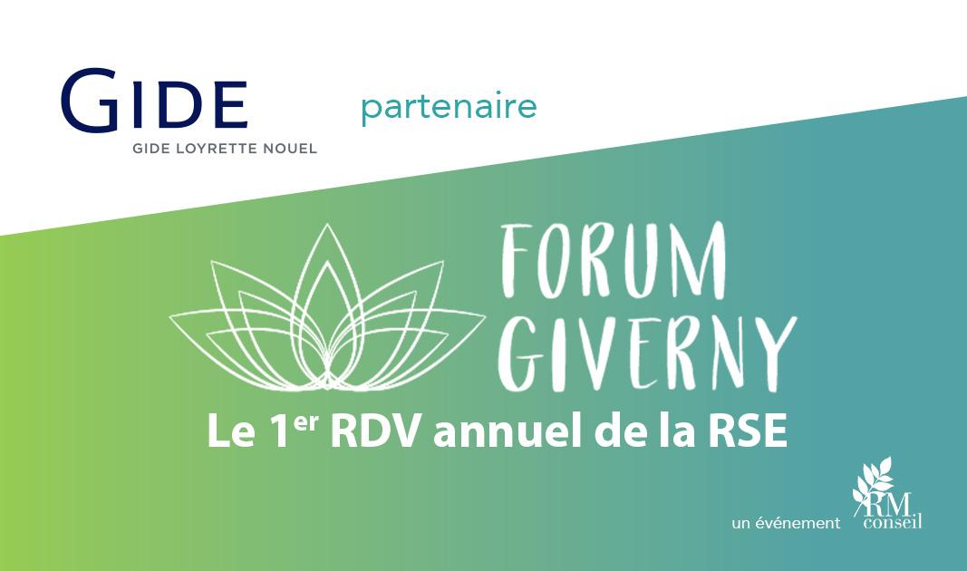 Gide, partenaire du Forum de Giverny