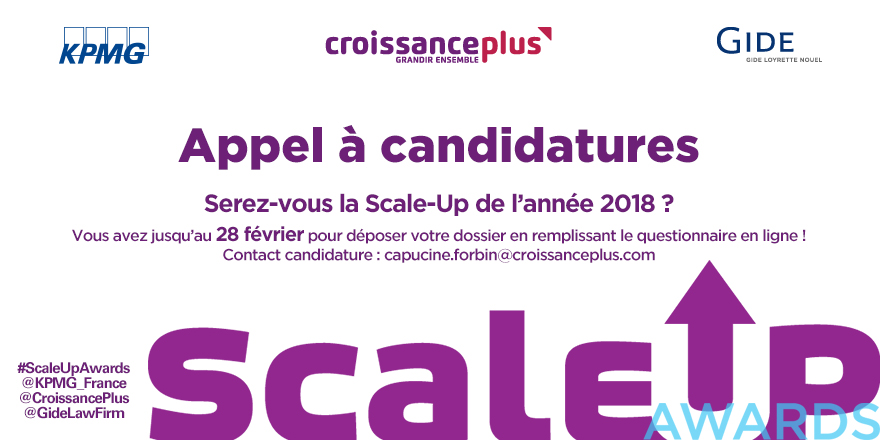 Formulaire en ligne | Scale-Up Awards 2018 | Du 10 janvier au 28 février 2018