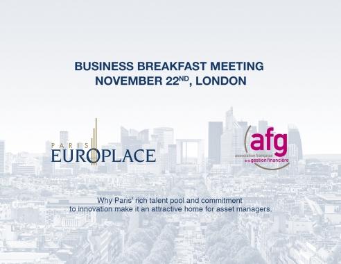 Paris EUROPLACE Business Breakfast Meeting in London | 22 November 2018