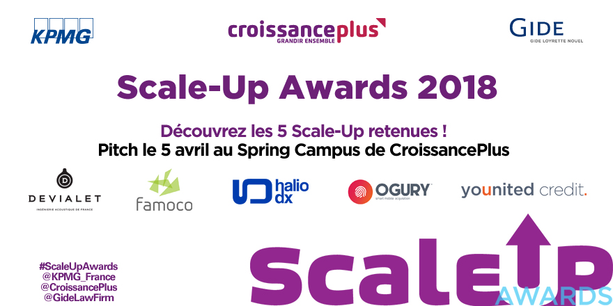 Scale-Up Awards 2018 | Les cinq finalistes